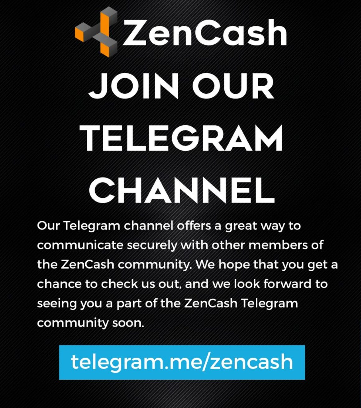 Join the ZenCash Telegram Channel for Secure Talk