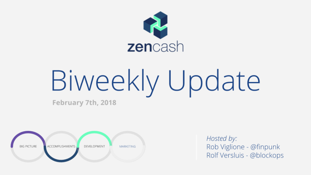 ZenCash Bi-weekly Summarized – Feb 7th 2018