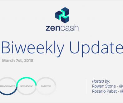 ZenCash Bi-weekly Summarized – March 7st 2018