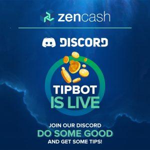 zencash discord tipbot is live annoucement