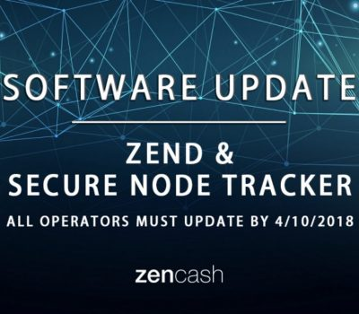 ZenCash and secure node tracker Software Update