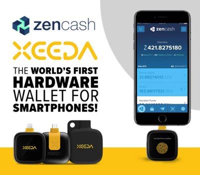 zencash xeeda crypto hardware wallet