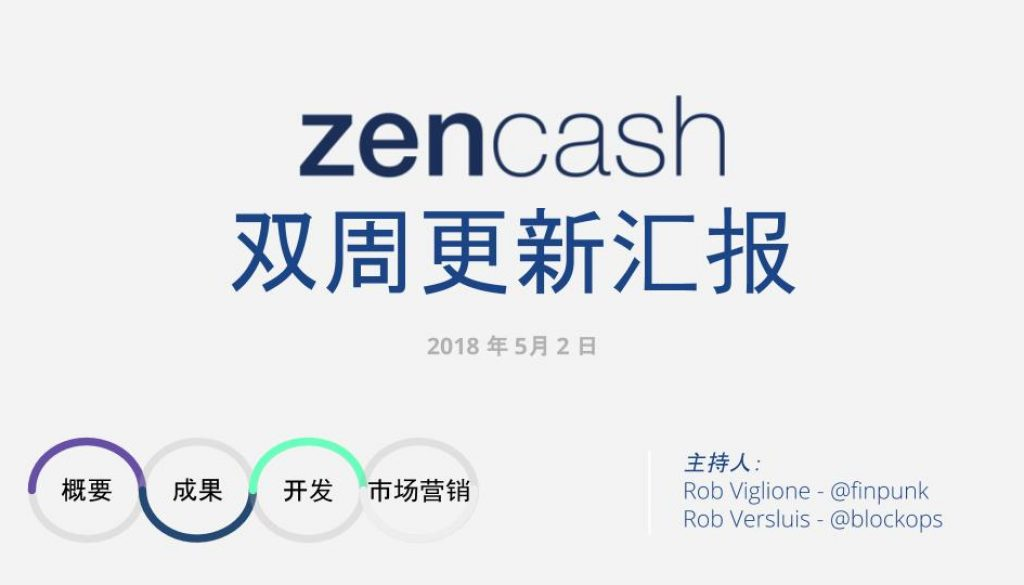 21 March 2018 ZEN BIWEEKLY UPDATE CHINESE