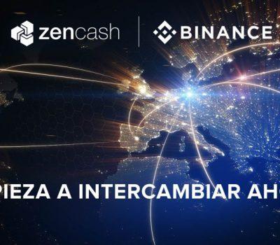 ¡ZenCash en Binance!