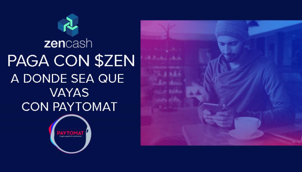 Zencash en Paytomat