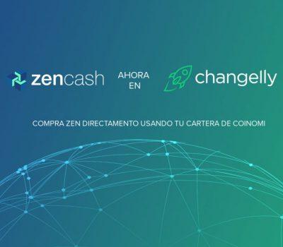 ¡Zencash ahora en Changelly!