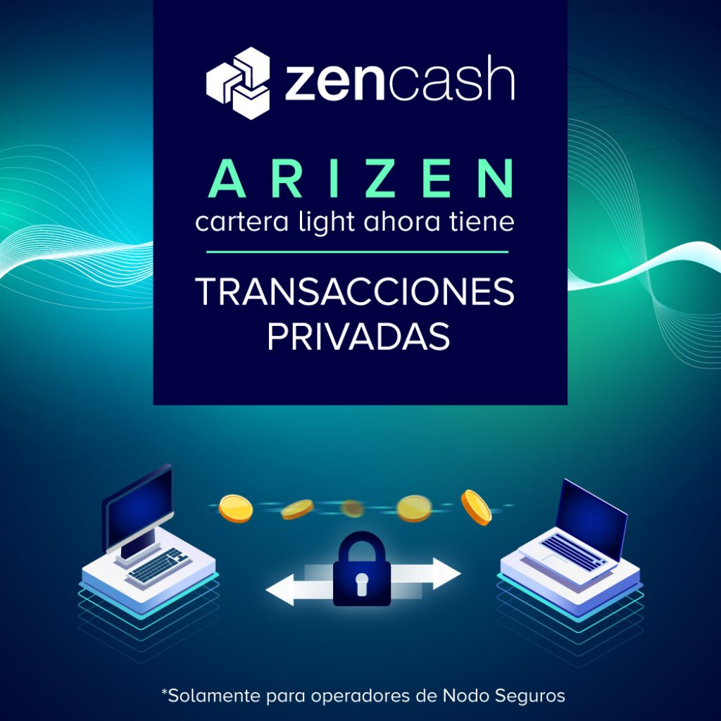 arizen transacciones privadas
