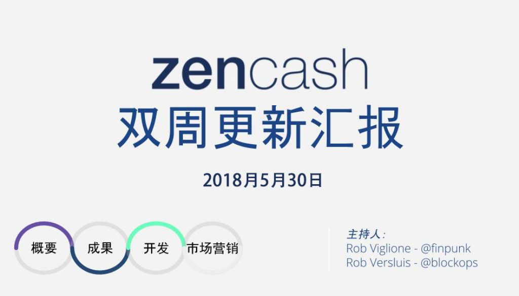 Chinese 30 May 2018 ZEN BIWEEKLY UPDATE 0