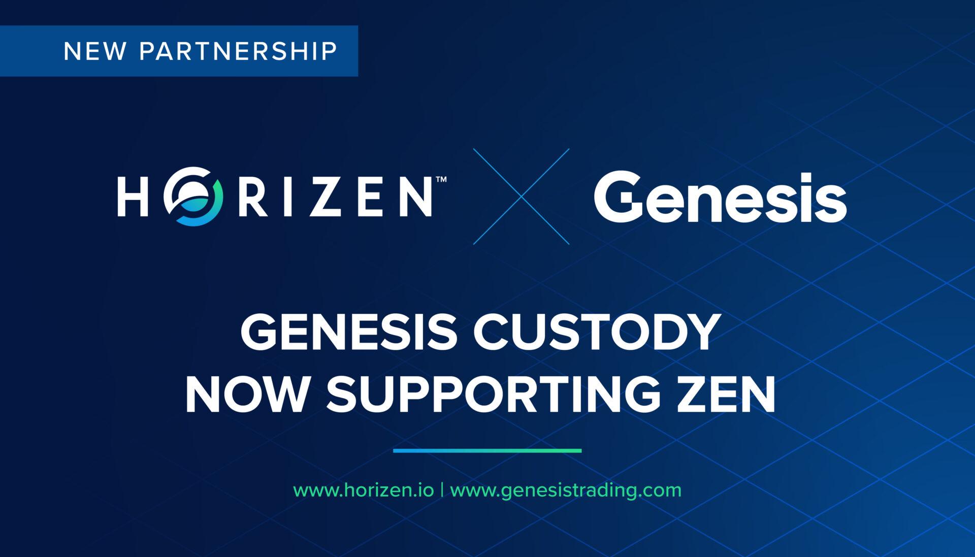 Genesis Custody Now Supports ZEN! - Horizen