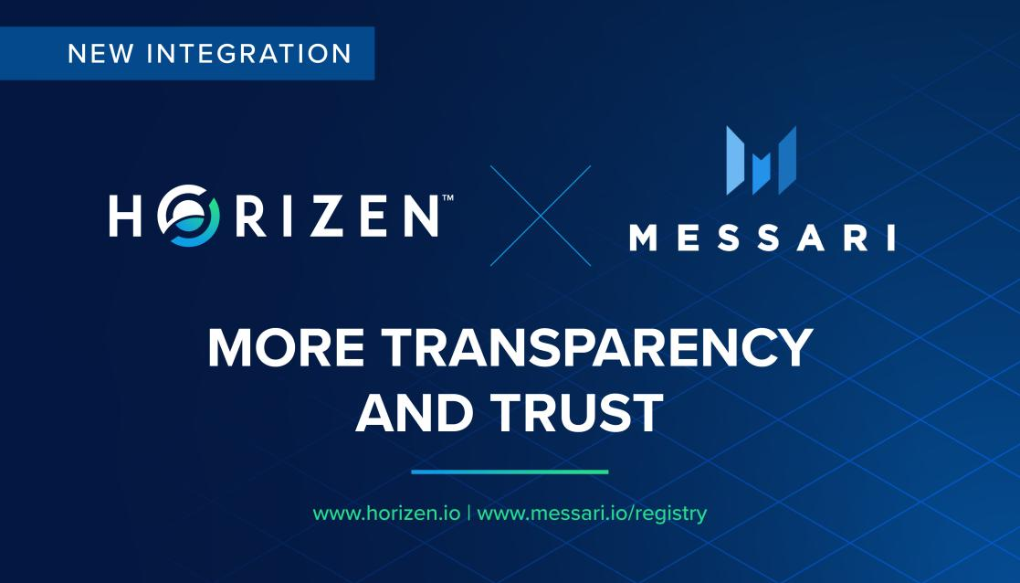 Horizen Joins Messari Registry to Provide More Project Transparency - Horizen