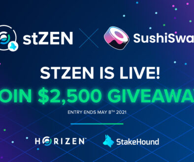 stZEN launch on SushiSwap