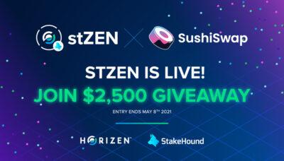 stZEN launch on SushiSwap