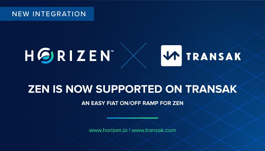 ZEN is now supported on Transak - Horizen